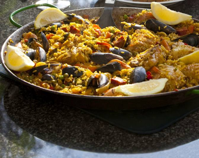 Paella close-up