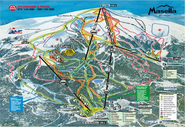 Masella Ski Map